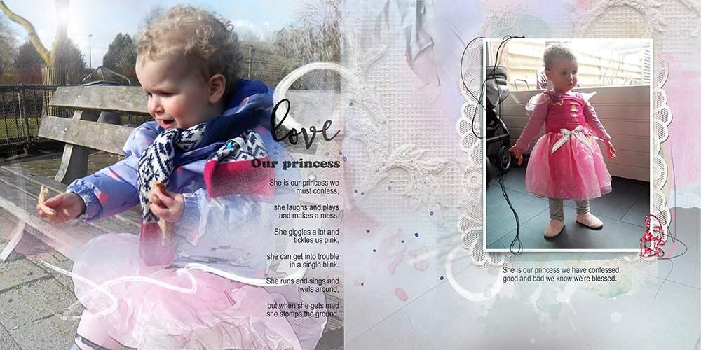 Digital Scrapbooking Inspiration 8 x 8 Artsy Template Album