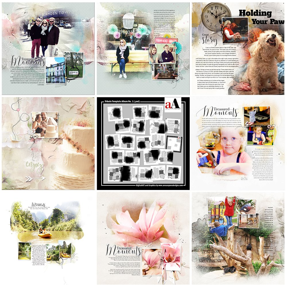 Tribute Photo Book Template Inspiration