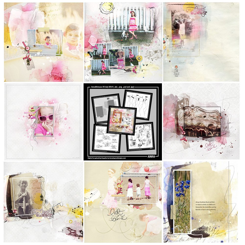 Vintage Summer Artsy Digital Designs Sale