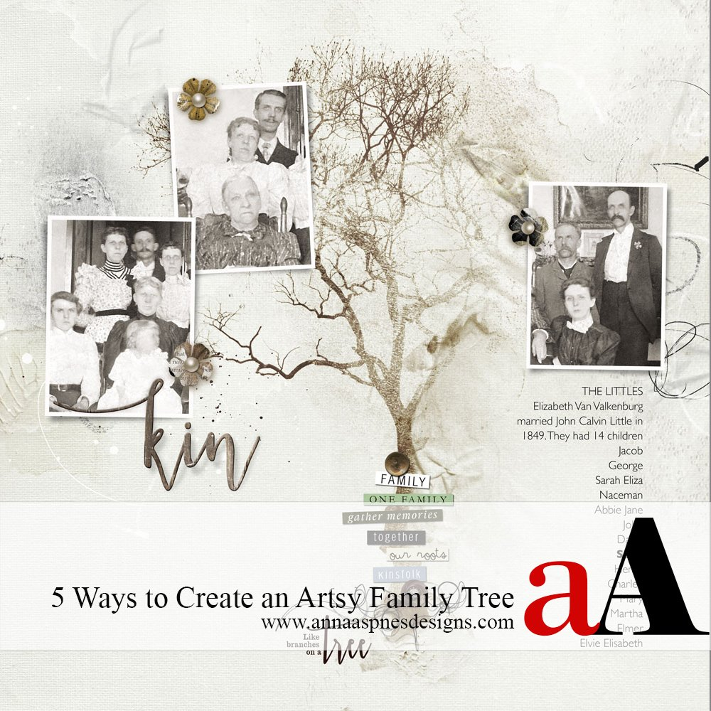 6 Ways to Create an Artsy Family Tree